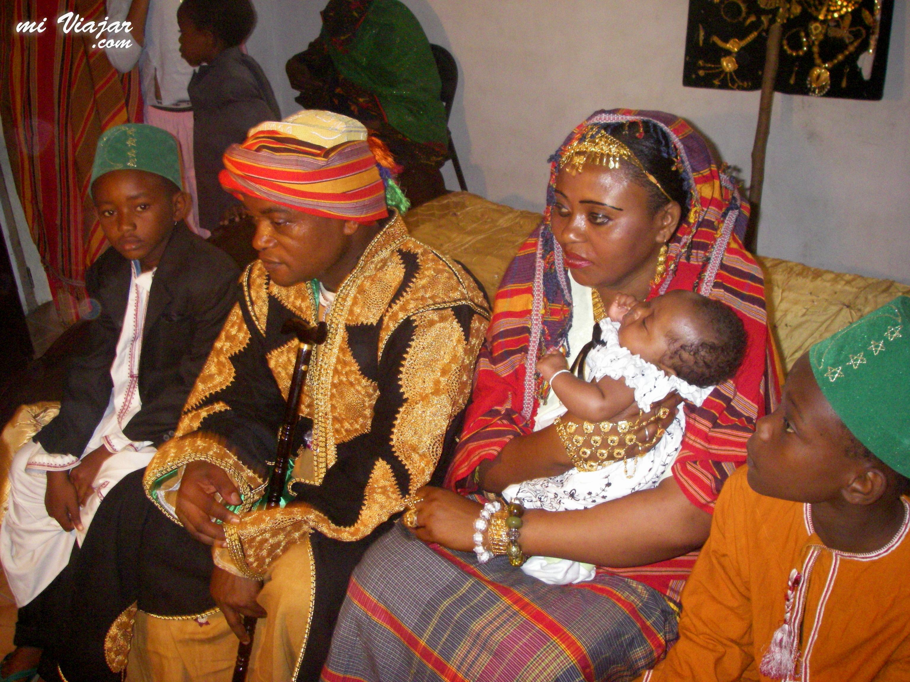 Traje de la boda de África