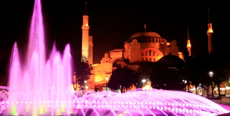 Estambul, Santa Sofia noche