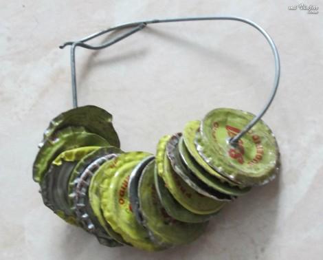 maracas con tapas de gaseosa